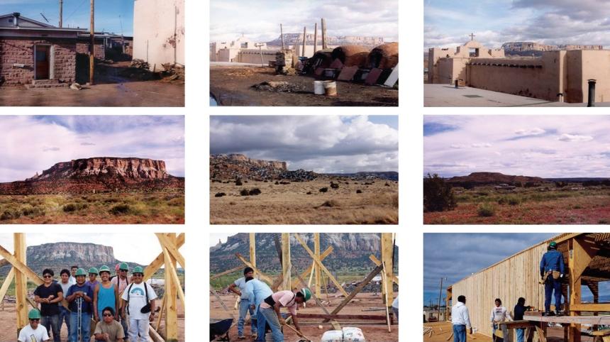 Pueblo of Zuni during construction